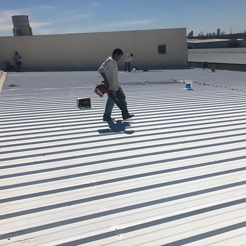 Applying Silicone Roof Coating